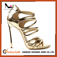 golden hot sale sexy high heeled sandals, summer patent sexy sandals, top selling wholesale price sandals