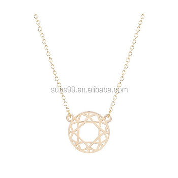 Best sell one dollar items geometric circle initial pendant necklace best sell one dollar items geometric circle initial pendant necklace for women girls sweet christmas gift mozeypictures Gallery