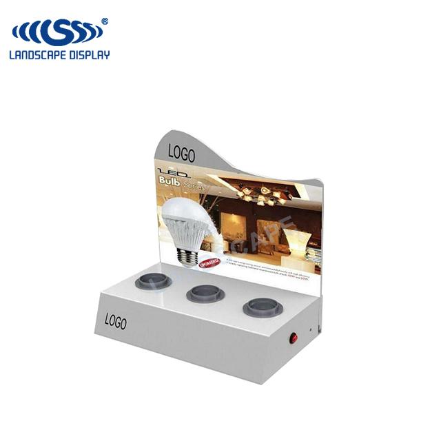 Custom Made Pdq Led Acrylic Light Display Case / Plexiglass Counter Led  Bulb Display Box - Buy Led Acrylic Light Display,Led Bulb Display Box,Pdq  Led