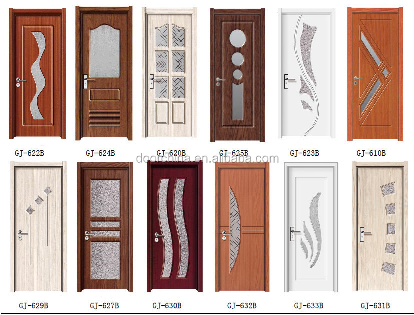 Pvc Interior Living Room Mdf Doors Indian Door Designs