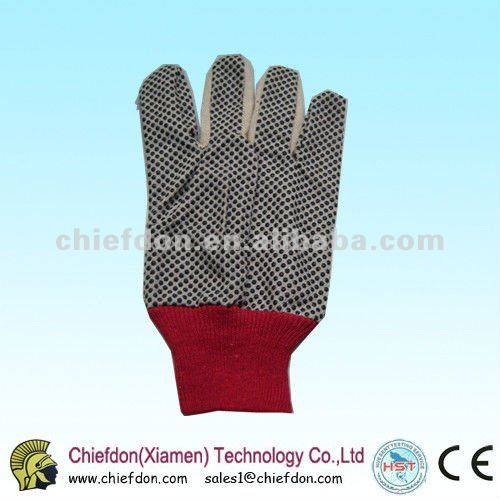 PVC dots working safety glove