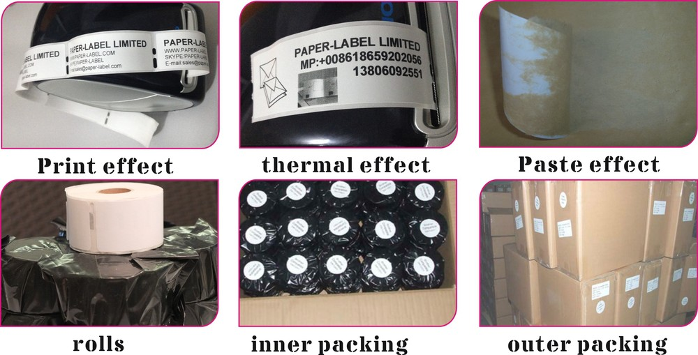 Any Color Paper Continous Label Roll Brother Compatible DK22205 Printer Labels 62mm X3048M Continuous