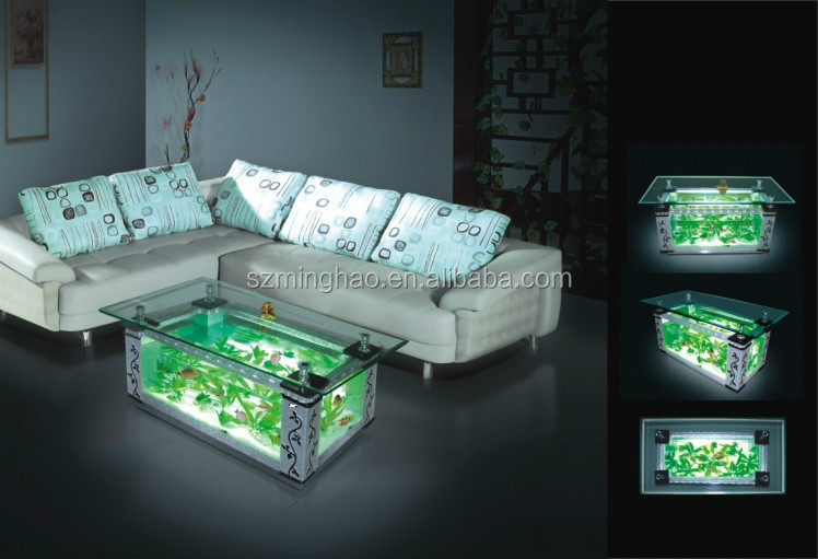 Customized Clear Acrylic Aquarium,Coffee Table Fish Tank For Cheap ...