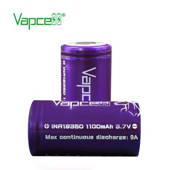 high power Vapcell 18350 1100mAh 9A purple high performer for e-cig  18350 batteries