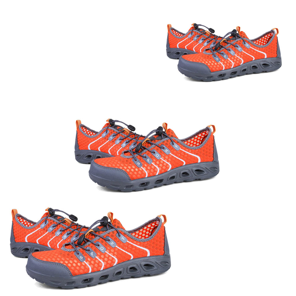 men's sports tourism Orange casual men's gray breathable summer SDIiLAN hiking shoes Men's shoes outdoor Z8wRxX