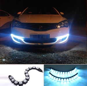 Flexible led drl/ daytime running light,drl front fog warning decorative lamp,Waterproof Flexible daytime running light