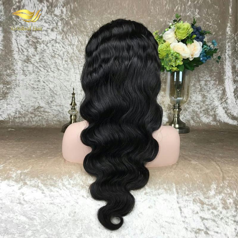 Zwarte vrouwen populaire menselijk haar kant pruiken virgin hair goedkope haarkant human hair