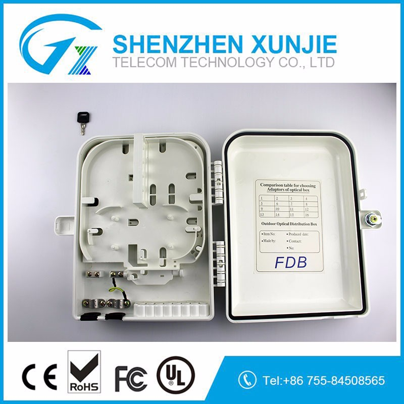 Outdoor 16ports wall mounted type Splitter box Fiber optic distribution box outdoor ODF