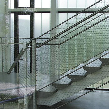 Stainless steel protective rope mesh for staircases