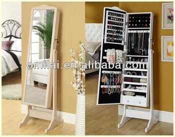 Antiek wit zwart goedkope dressing spiegel meubilair