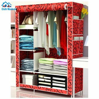 Sw Portable Storage Cabinet Design Assemble Bedroom Furniture Clothes  Organizer Closet Cabinet Assemble Metal Cabinet - Buy Assemble Metal ...