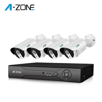 Factory Night Vision cctv camera 4mp with 4ch dvr kit