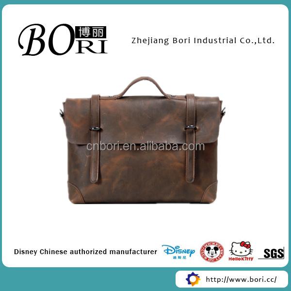 Millitary Sling Bag Vintage Cow Leather Men Briefcase Messenger ...
