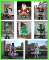 HI CE High quality santa claus, xmas tree, reindeer, snowman christmas costume for adults