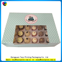 Hot sale alibaba china cheap plastic window cupcake boxes sale