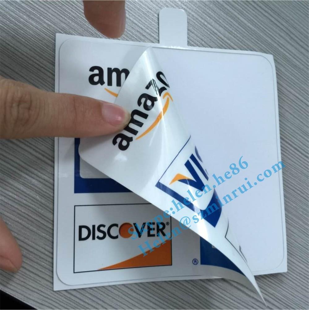 Personalizado Doble Cara Impresa Mastercard Pegatinas De