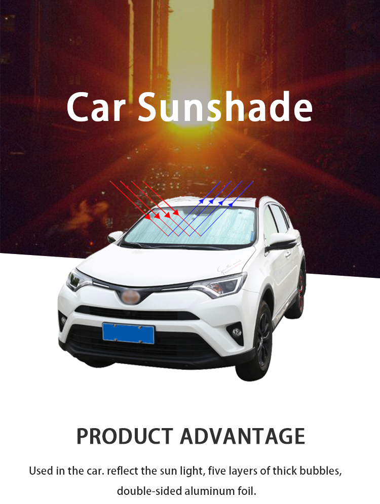 ZY-C-012 Best front windshield rear window vehicle car sunshade