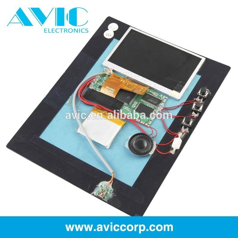 Factory Price Advertising Lcd Video Mailer Brochure Presentation Boxes Lcd Paper Thin Video Brochure