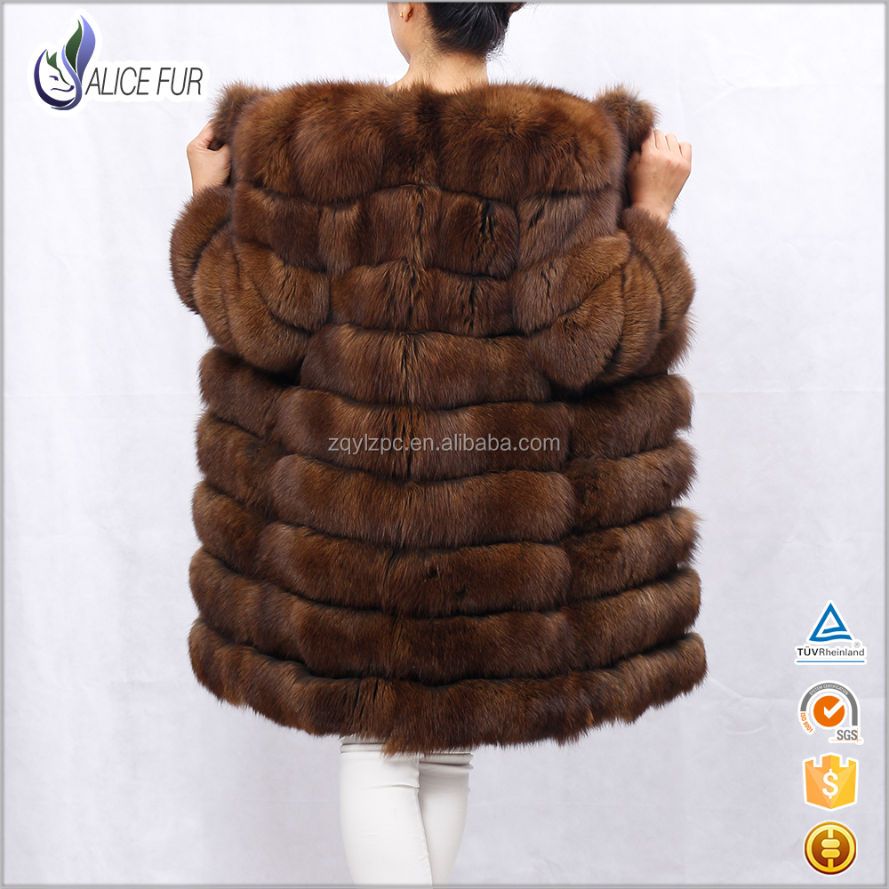 Excellent China Supplier OEM Service High Quality Women Sable Fox Fur Coat With Price