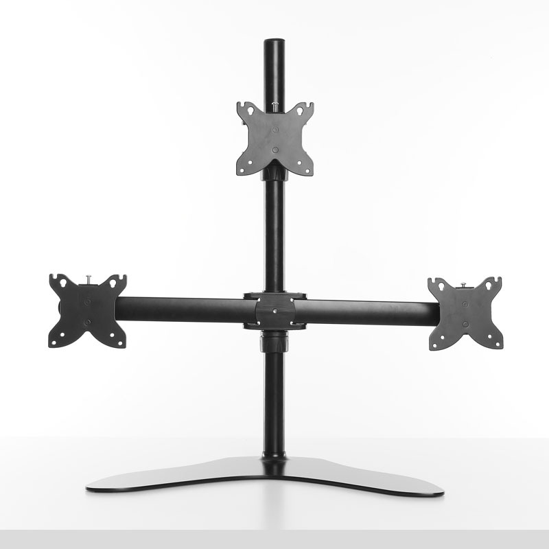 24 inch tilt swivel electric pc third monitor mount with lcd monitor stand