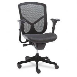 Alera : EQ Series Ergonomic Multifunction Mid-Back Mesh Chair, Black -:- Sold as 2 Packs of - 1 - / - Total of 2 Each