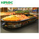 Oval Shape Style Vegetable Fruit Wood Display Stand Rack