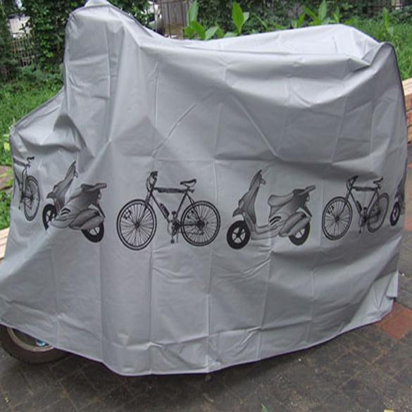 Велосипед мотоцикл дождевик пыль водонепроницаемые мопедов протектор серый