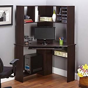 Morgan Computer Desk with Hutch, Espresso