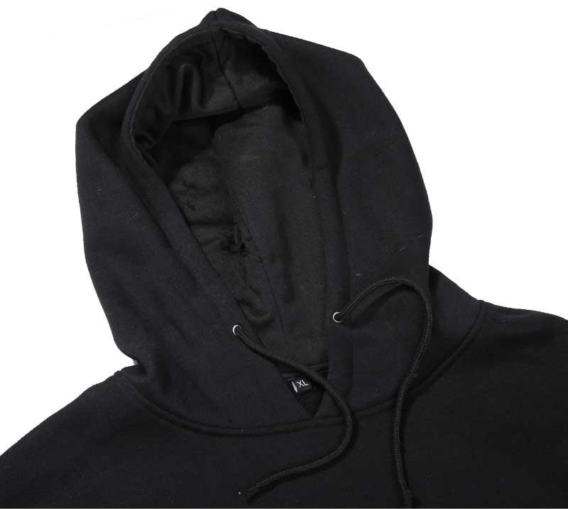 Wholesale bulk plain black hoodie,blank pullover hoodie,no zipper ...