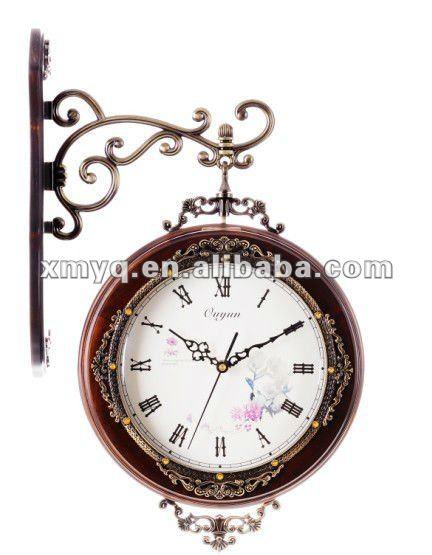 Antico doppia faccia orologio da parete uccello con for Orologi da parete grandi dimensioni
