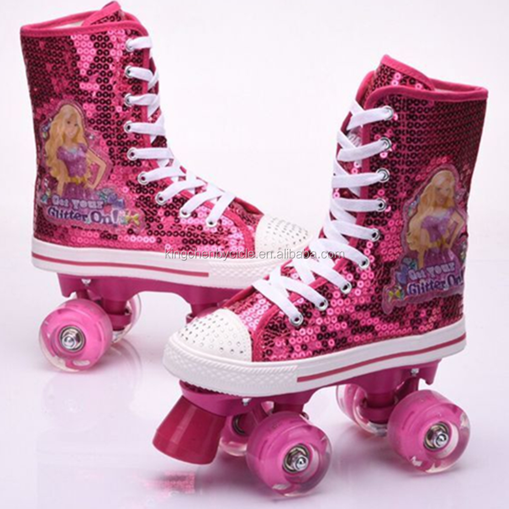 Hot PVC Wheels Quad Roller Heelies Skate Shoes