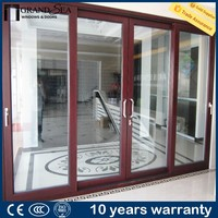 Made in china sliding patio blinds aluminum frame glass door with CE certification