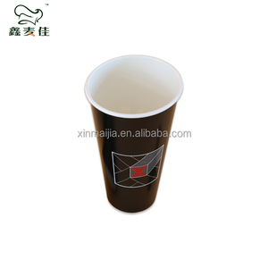 Single wall cold beverage drinking disposable take away paper cups 16oz