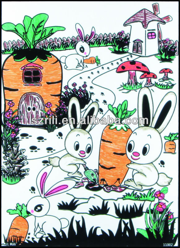 Professional Art To Color Black Velvet Coloring Posters Poster Color Paint  With Ce Certificate - Buy Art To Color,Black Velvet Coloring Posters,Poster  ...