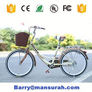 China High Quality 26 Aluminium Green Japanese City Bike With