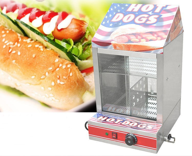 IS-FY-1P-E Electric Stainless Hot Dog Warming Cabinet Food Warmer Showcase Display