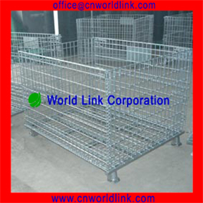 Heavy Duty Steel Warehouse Collapsible Pallet Cage
