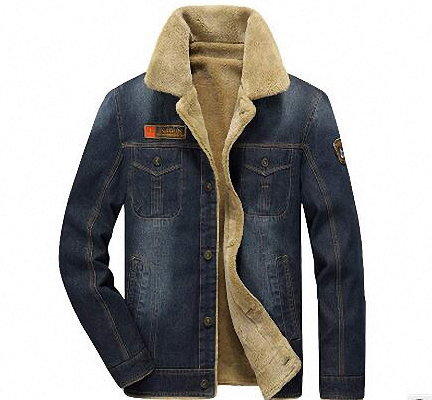 00d693d10b4f M-4XL men jacket and coats brand clothing denim jacket Fashion mens jeans jacket  thick