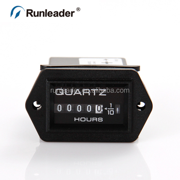 Runleader Mini Mechanical Quartz Hour Meter Running Hours Gauge For Marine  Truck Boat Dryer Water Pump Car - Buy Mechanical Hour Meter,Mechanical Hour