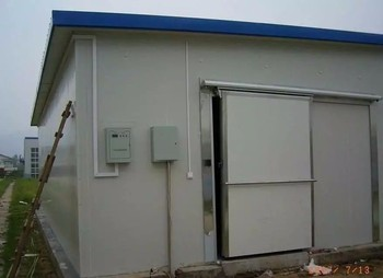 Frozen cold storage room for fish, meat and frozen food