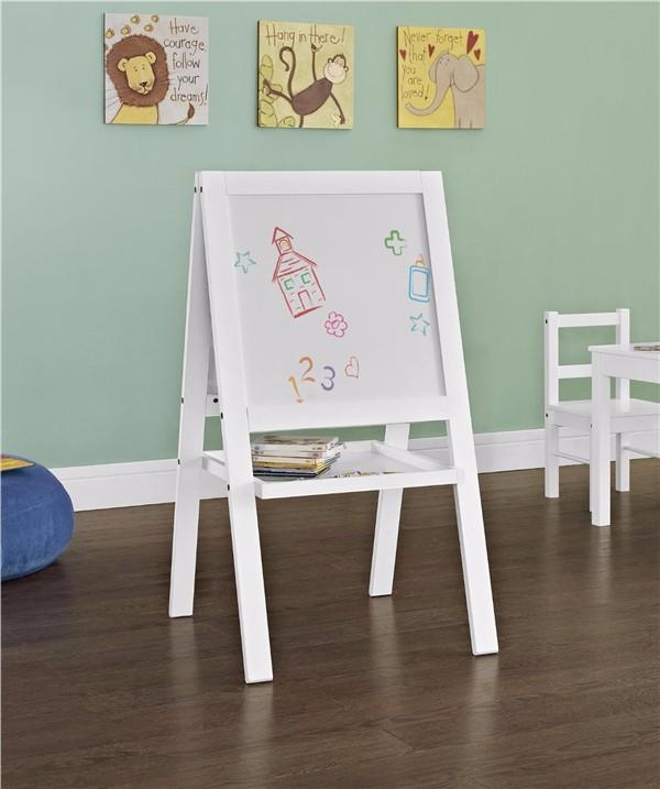 blanc en bois massif cadre enfant chevalet tableau conseil d 39 criture double face chevalet des. Black Bedroom Furniture Sets. Home Design Ideas