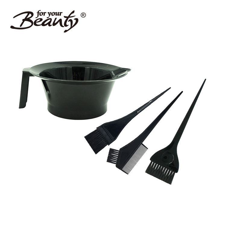 Plastic Dyeing mixing Bowl Brush Comb Set Hair Coloring Tools Kit