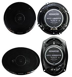 "2) Kenwood KFC-1695PS 6.5"" 320W 3-Way + 2) KFC-6985PS 6x9"" 600W 4-Way Speakers by Kenwood"