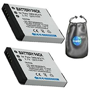 ValuePack(2 Count):Digital Replacement Camera and Camcorder Battery for Panasonic DMW-BCK7E, Lumix DMC: FH2, FH25, FH25A, FH25K, FH25R, FH25S, FH25V, FH27, FH27K, FH27R-Includes Lens Accessories Pouch