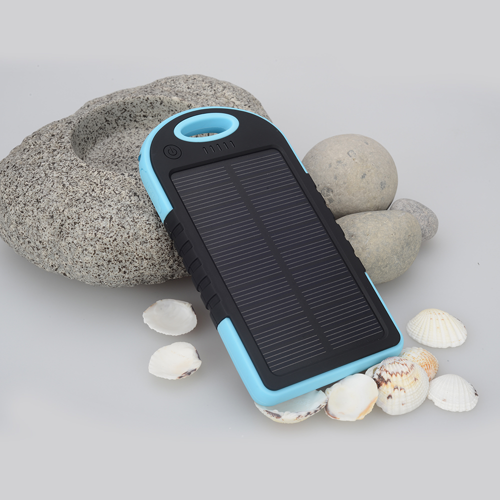 New Dual USB Waterproof 4000 mah Solar Power Bank Battery Charger for Cell Phone