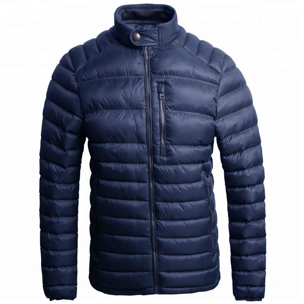 cheap <strong>Winter</strong> quilted <strong>jacket</strong> 100% nylon stand collar <strong>men</strong> padding down coat puff <strong>jacket</strong> <strong>men</strong>