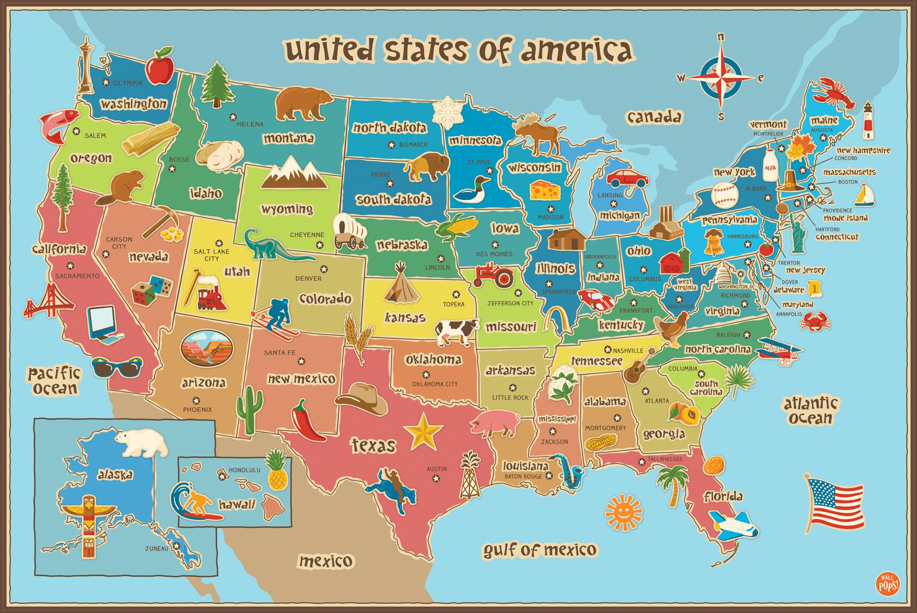 Cheap earth map kids find earth map kids deals on line at alibaba get quotations wall pops wpe0623 kids usa dry erase map decal wall decals gumiabroncs Images