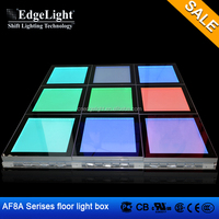 Edgelight AF8A waterproof outdoor led display board , interactive dance floor night bar CE/ROHS/UL listed light box advertising