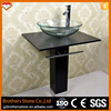 Whole sale Black Stone Pedestal Sink Natural Stone Sink