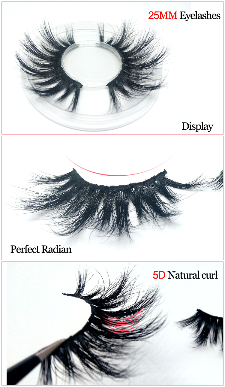 Mytbeauty Wholesale Real 5D Lashes Cruelty Free Dramatic 5D Mink Eyelashes Custom Eyelash Packaging Private Label 25Mm Eyelashes